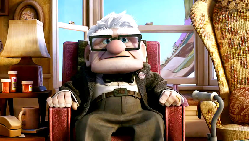 The movie up characters up if the movie were just the